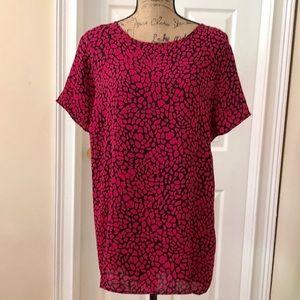 Apt 9 pebble print tunic blouse